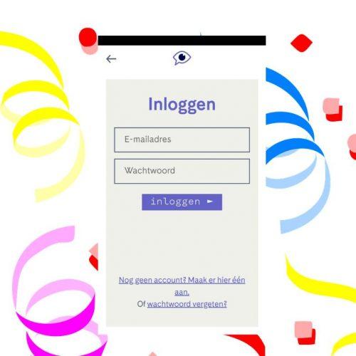 Beginscherm scribit app
