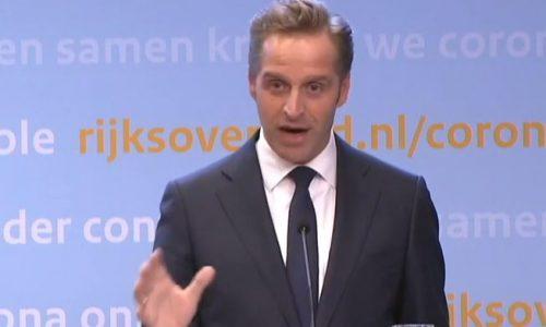 minister De Jonge tijdens persconferentie