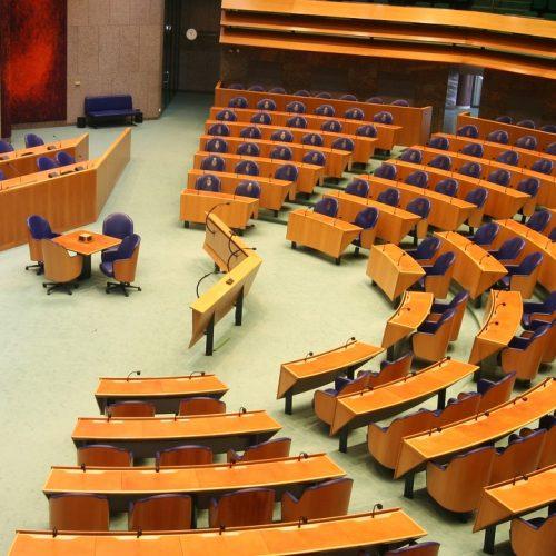 panoramafoto van de Tweede Kamer